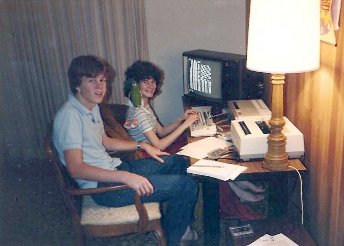 Jen and Dan using the ADAM computer circa 1983