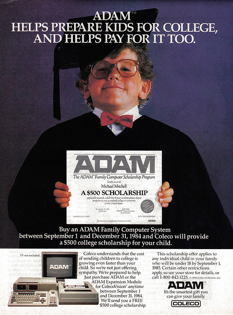 Coleco ADAM scholarship